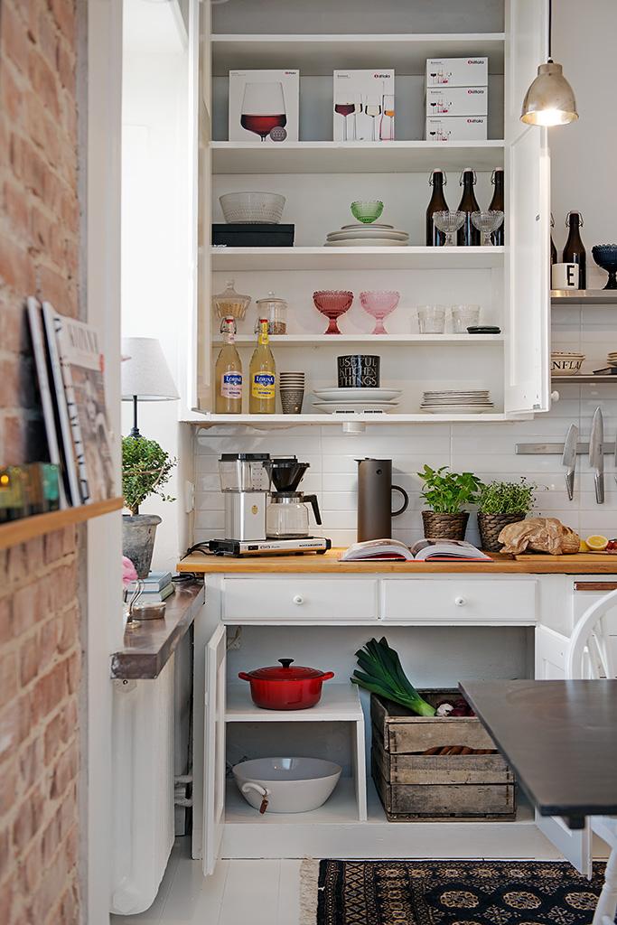 Pisos peque os compacto y funcional volgende halte for Cocina comedor chico
