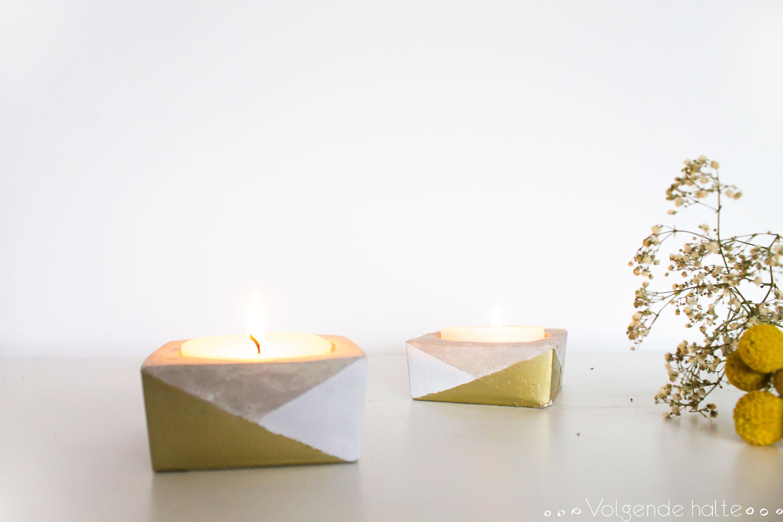 Diy Cement Candle Holders Volgende Halte