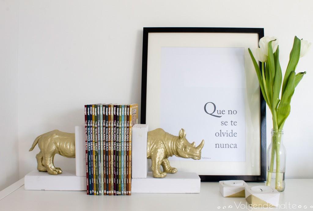 DIY Rhino Book Stopper Volgende Halte