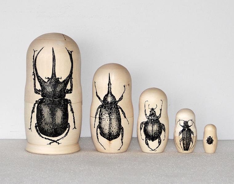 Raúl del Sol, insectos sobre madera