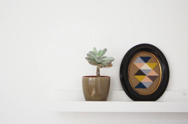 Lundi: sencillos bordados geométricos