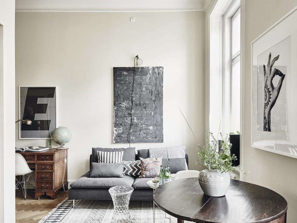 El romanticismo se esconde en los pisos peque os for Diseno de interiores minimalista espacios pequenos